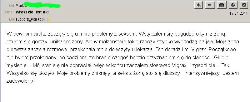 vigrax opinia